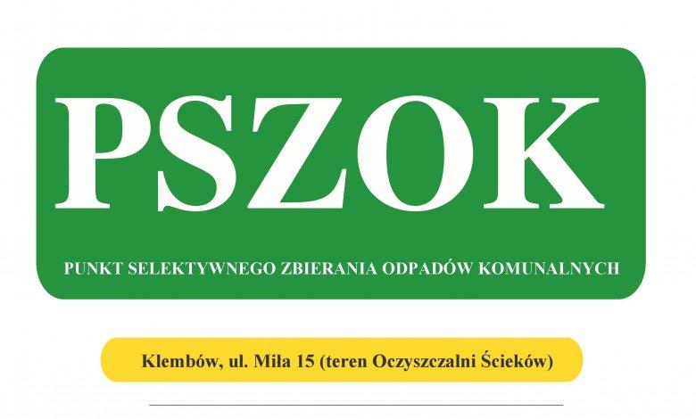 PSZOK czynny dodatkowo w sobotę 21 września 2019 r.